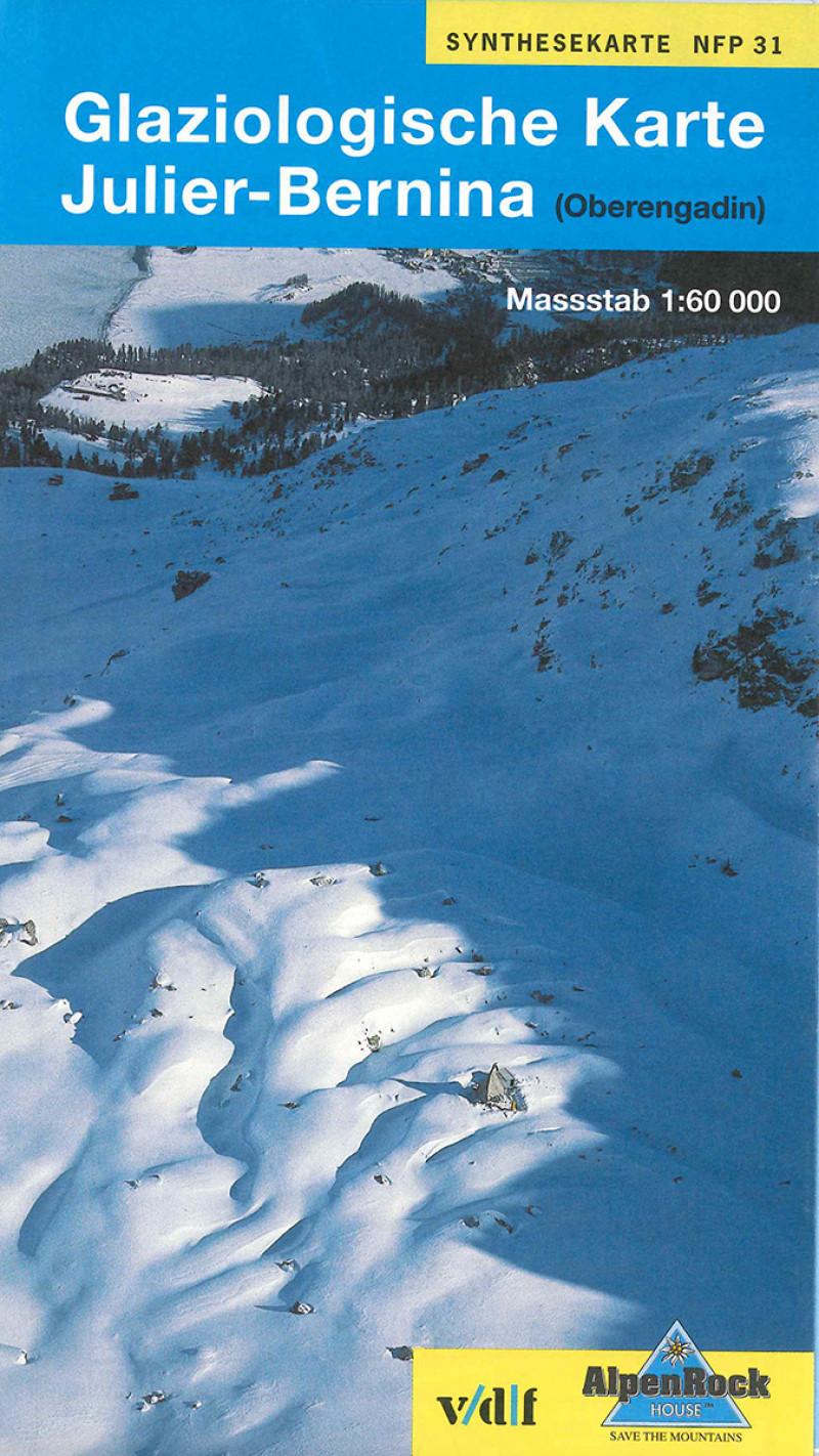 Glaziologische Karte Julier-Bernina (Oberengadin)