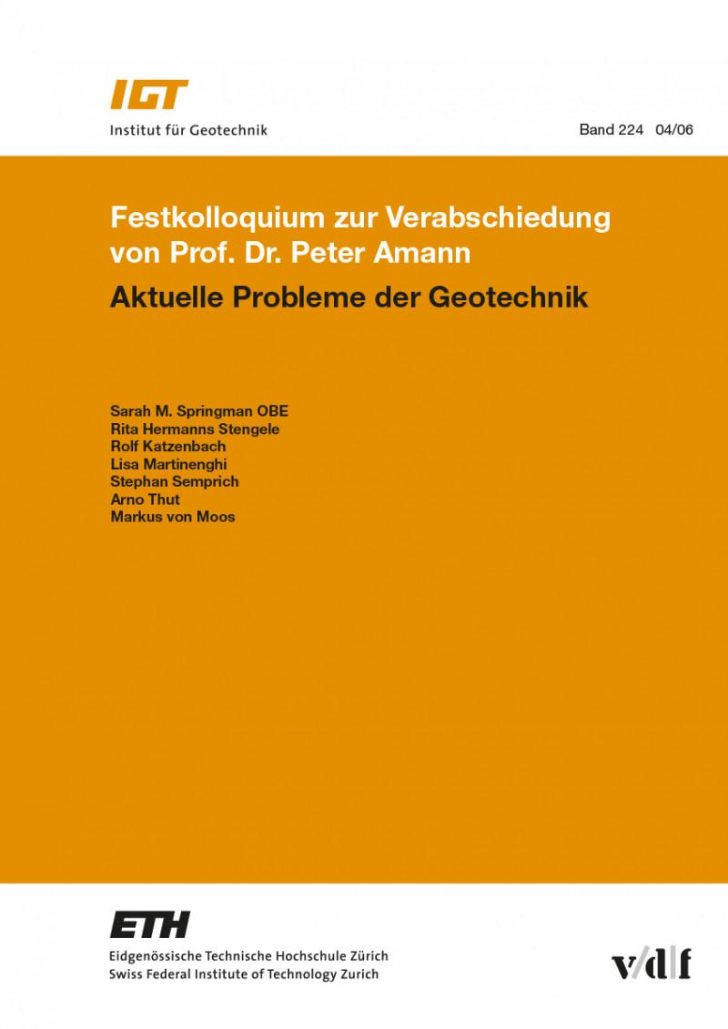 Festkolloquium zur Verabschiedung von Prof. Dr. Peter Amann