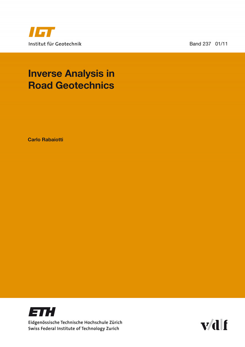 Inverse Analysis in Road Geotechnics