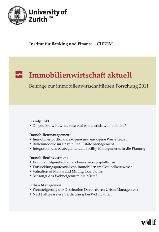 Immobilienwirtschaft aktuell (2011)