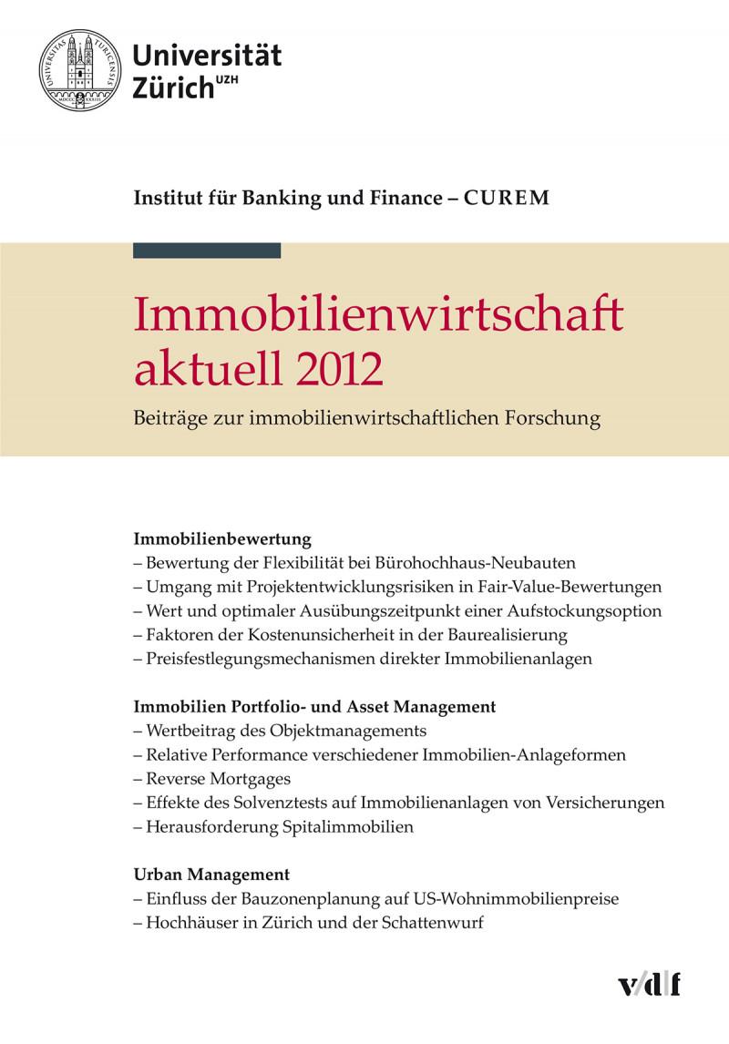 Immobilienwirtschaft aktuell 2012