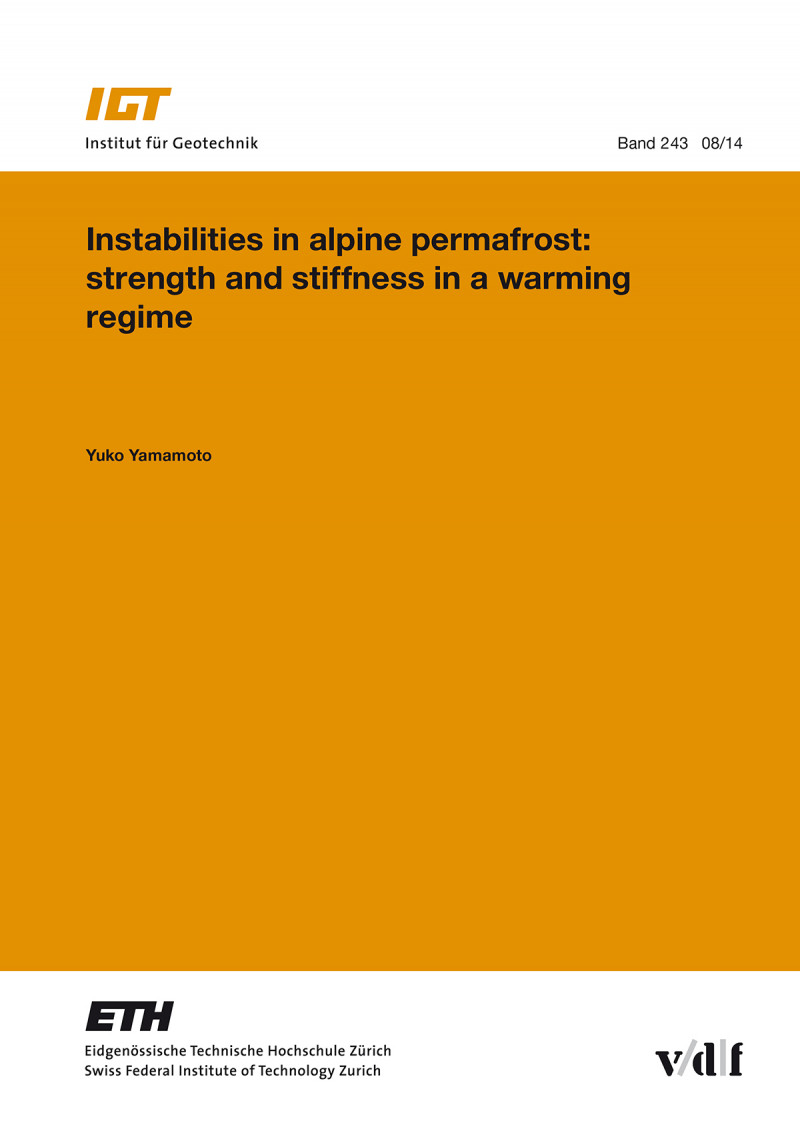 Instabilities in alpine permafrost: strenght and stiffness in a warming regime