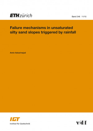 Failure mechanisms in unsaturated silty sand slopes triggered by rainfall