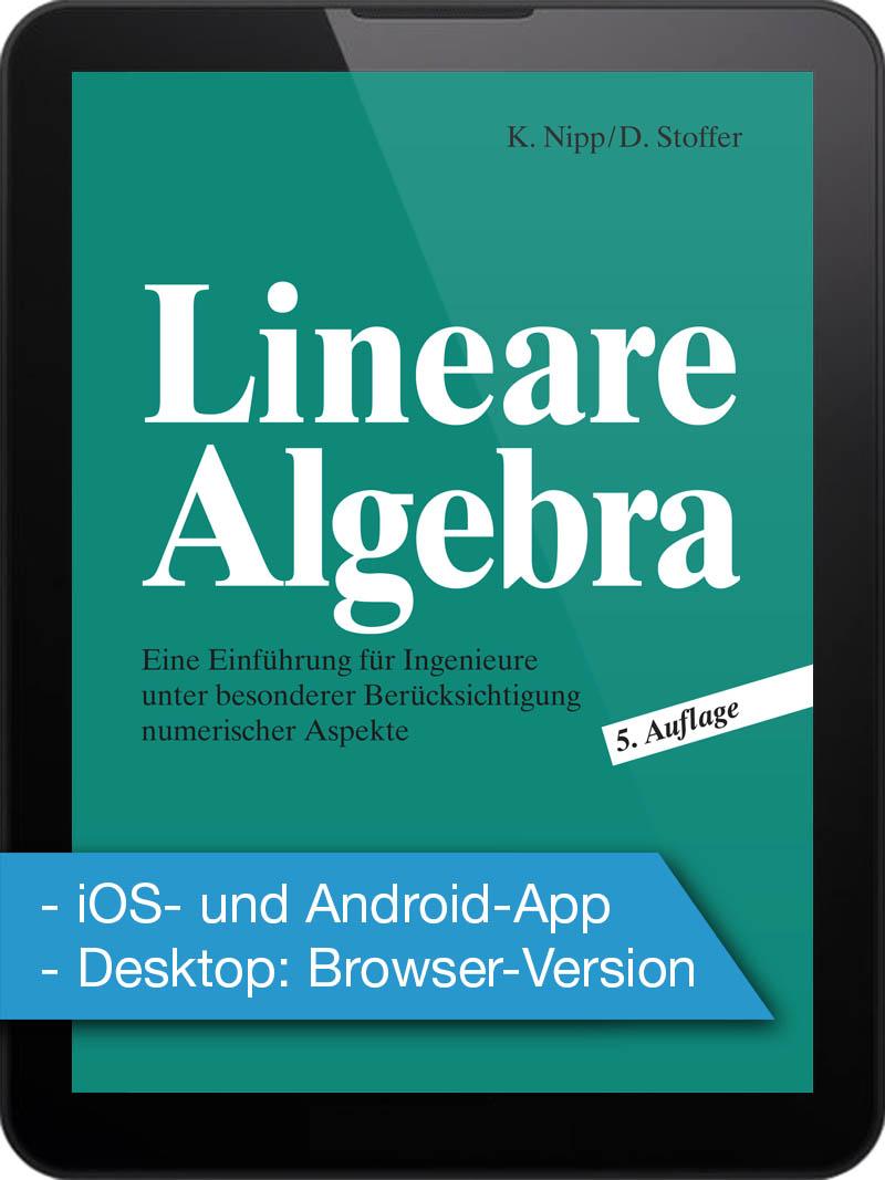 Elektronische Ausgabe: Lineare Algebra