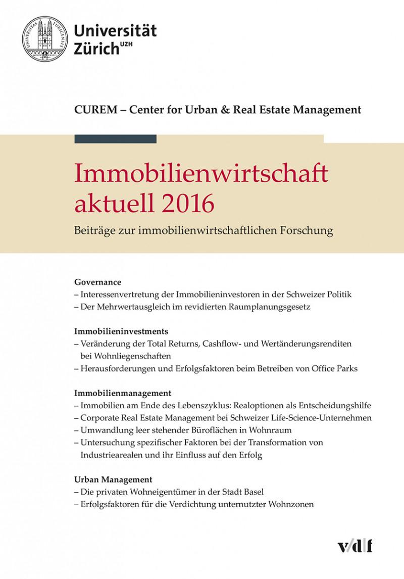 Immobilienwirtschaft aktuell 2016