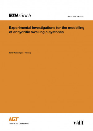 Experimental investigations for the modelling of anhydritic swelling claystones