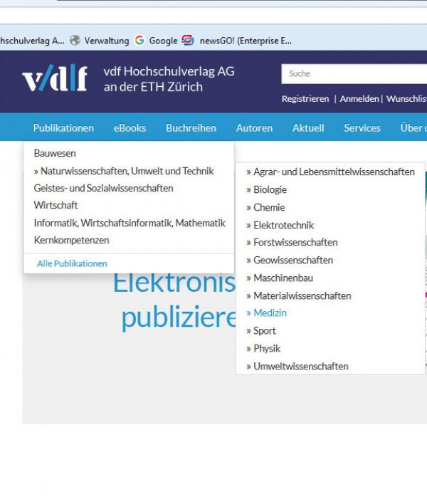 Der vdf ist auch ein Medizinverlag!